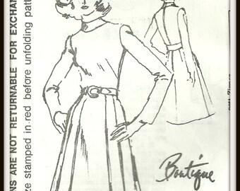 1970's Spadea 72432 Pleated Skirt Dress Pattern, Women's Size 12 Bust 34