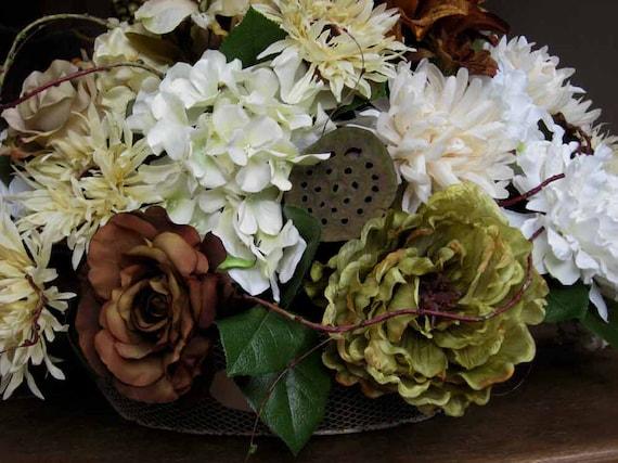 Elegant year round wedding centerpiece by forestnshorenaturals
