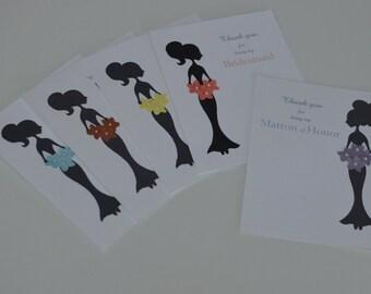 Bridal Party Thank You Cards- Sassabelle - Syle No. 2 (5pk)