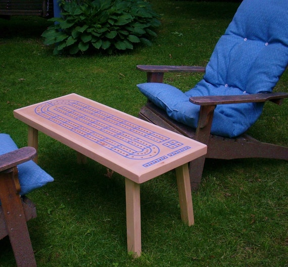 Small Coffee Tables At Game: Items Similar To CRIBBAGE TABLE, Handcrafted, Cribbage