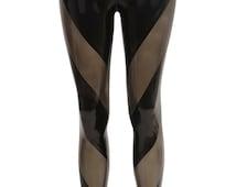 ONYX Paneled Latex Leggings