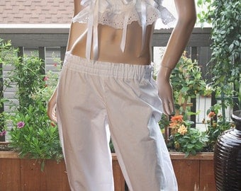 """Kate's """"Fantasy In White"""" -  Soft Cotton Bloomers - sleepwear and intimates, lingerie sets, bridal accessories'"""
