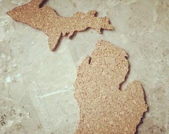 State of Michigan Corkboard: made to order