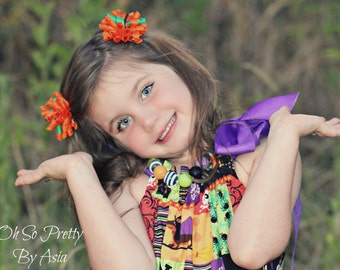 Halloween Hair Clip - Pumpkin Hair Bow - Halloween Korker Bow Hair Clip - Pumpkin - Orange Hair Clip - Halloween - Halloween Headband
