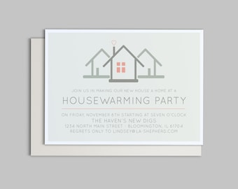 We've Moved - Customizable Housewarming Party Invitation - Printable PDF