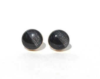Midnight Black stud earrings. Black wood earrings Black Studs. Black Stud earrings Geometric Wood jewelry. Starlight woods.
