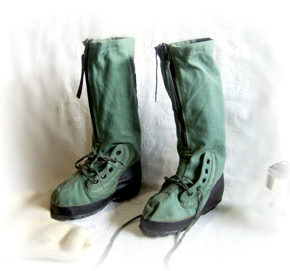 1989 Army Boots Extreme Cold Weather Military By Thewhitepelican