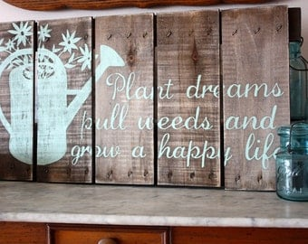 Hand Painted Repurposed Wood Sign
