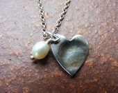 fingerprint silver charm necklace for Bianaca