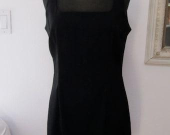 Black, Vintage, Retro, Tank Dress, Mod, Go Go Girl, Fun and Flirty Fashionista, Size Large