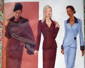 Butterick Misses'/Petite Misses' Stole, Jacket And Skirt Pattern 6707 By Designer Diahann Carroll - Size 6-8-10