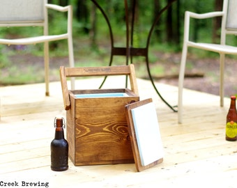 Beer Cooler - Six Pack Carrier - Beer Tote - Bottle Opener