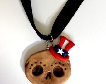 Lil'Skully's Patriotic Handmade Polymer Clay Charm