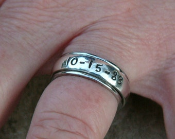 Spinner ring, Ladies spinner ring, Men's spinner ring, His and Hers spinner rings