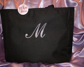 6 Personalized Tote Bag Bags and 7 Pins- Set of 6 bags and 7 pins for Bride, Bridesmaid, Mother of the Bride em5