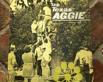 The Texas Aggie October, 1974 College Campus Magazine