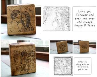 Personalized art gifts - Rustic Wood Custom art - Personalized Housewarming Gift - Pyrography Art