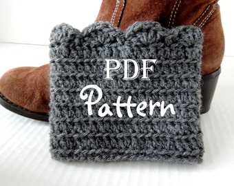 PDF CROCHET PATTERN - Make It Yourself:  Pattern for FANtastic Boot Cuffs, Crochet Boot Toppers, Digital Download, Lots of Photos