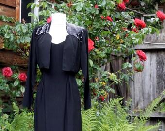 80's Sequin Dress Jacket Combo