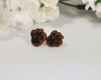Small Puppy Paw Earrings, Dog Earrings