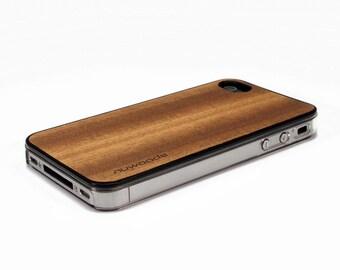 iPhone 4 Case Wood Sapele, Wood iPhone 4S Case Wood iPhone 4 Case, iPhone 4 Wood Case, iPhone 4S Wood Case, iPhone Case