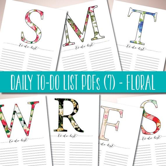 Calendar Typography Zoom : Printable to do list daily by printablewisdom