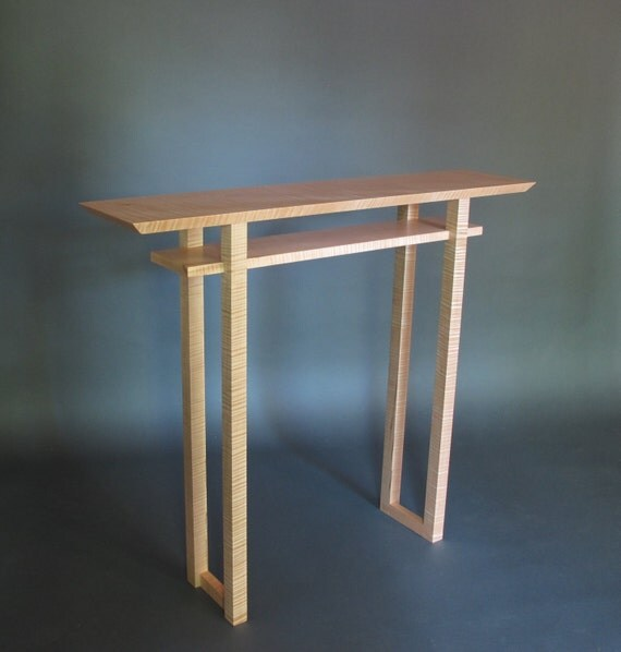 Foyer Table Canada : Classic hall table modern wood furniture handmade foyer