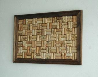 Wine Corkboard Pinboard  Framed Organizer