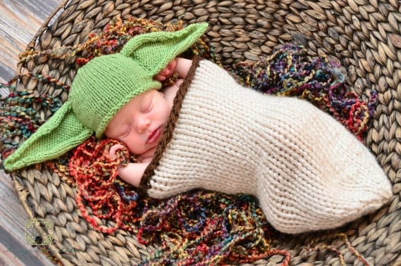 Baby Star Wars, Newborn Yoda Hat, Yoda Costume, Newborn. ◅