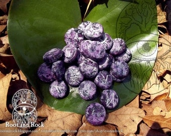 Charoite-Purple Runes for Divination ( Norse Futhark ) Medium Round