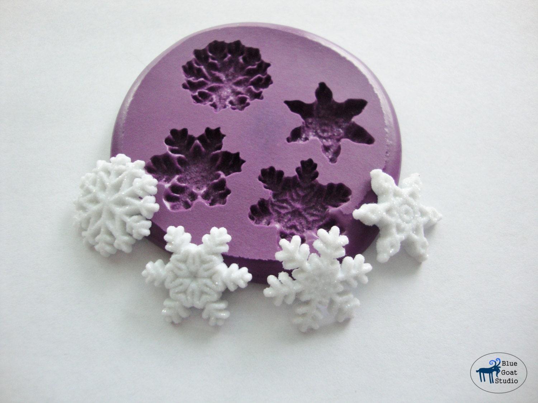 snowflake mold winter snowflakes silicone molds