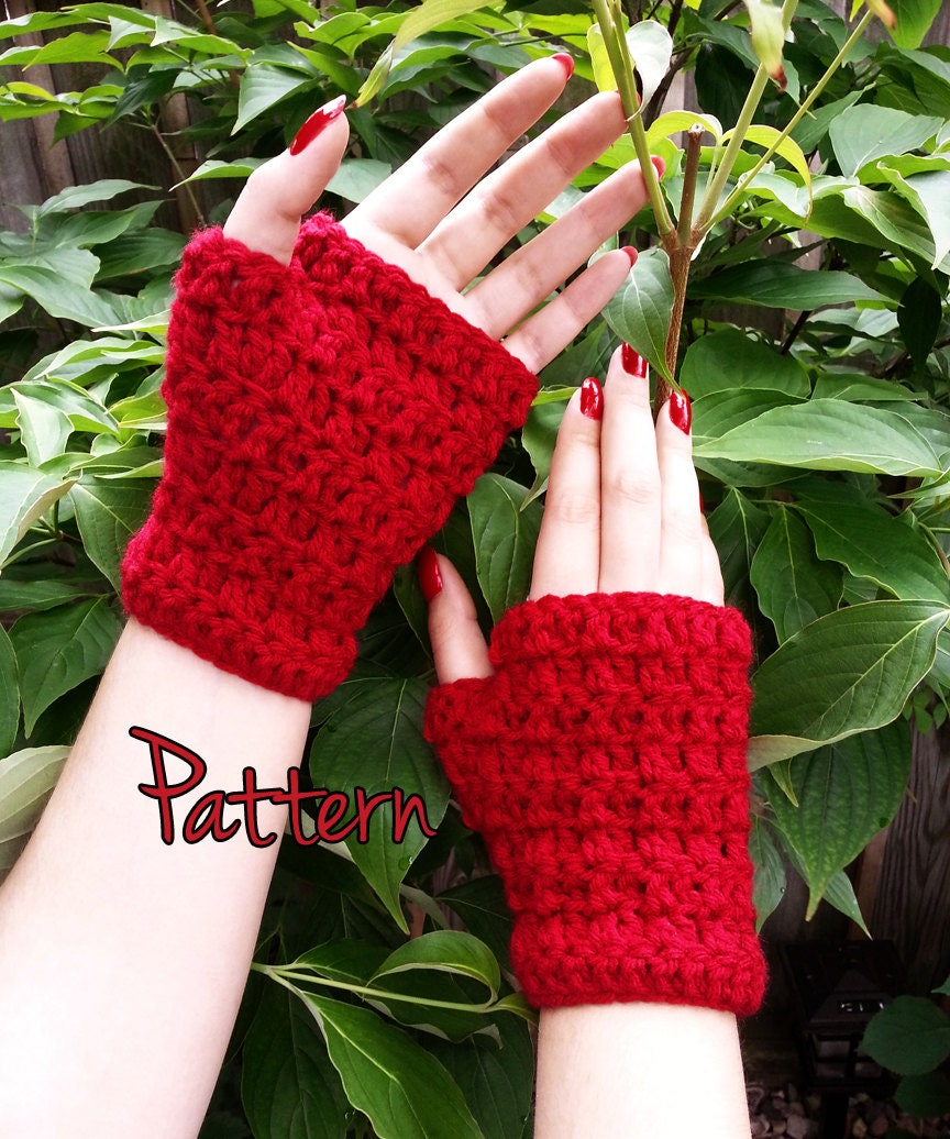 Crochet Glove Pattern Fingerless Gloves Easy Beginner Tutorial