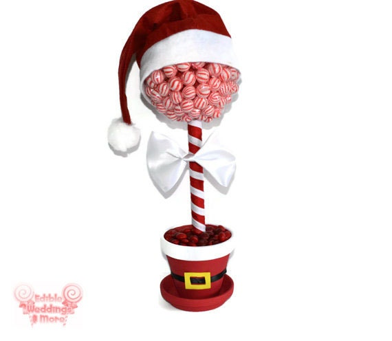 Santa Claus Christmas Lollipop Centerpiece By KeepItCandy