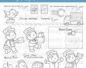 "Digital Stamp Art "" Mr. Postman """