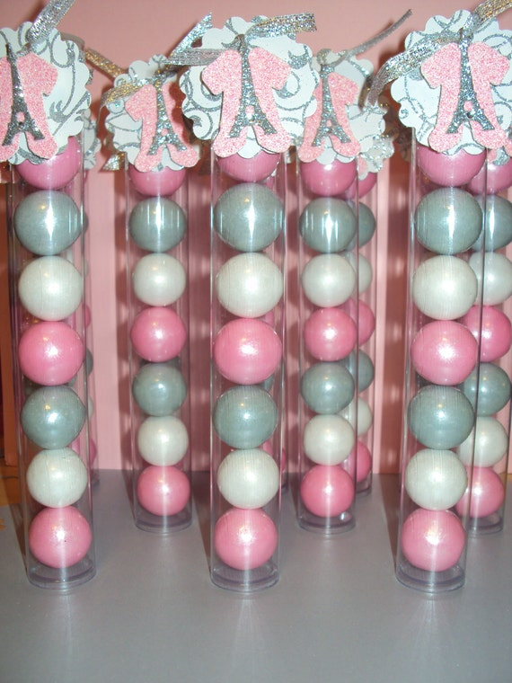 items similar to 12 pink white and silver paris baby shower themed