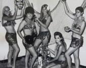 Cute 1960's Hawaiian Dance Recital Girls Snapshot Photo