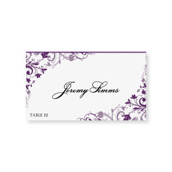 Instant download wedding place card by diyweddingtemplates for Templates for place cards for weddings