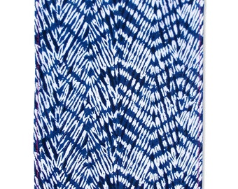 "Kitchen Towel, chevron print, shibori Tea Towel, 100% cotton, size 20""X28"""