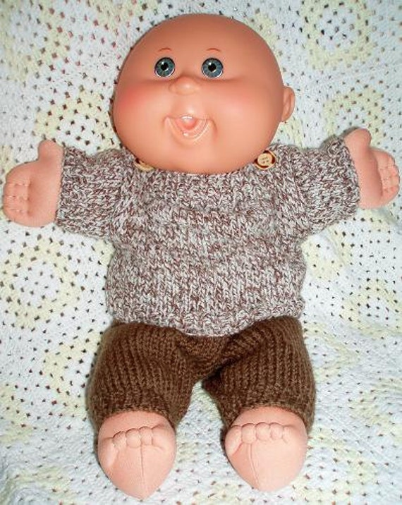 Knitting Patterns For Cabbage Patch Dolls : Lenny PDF KNITTING PATTERN for Doll Clothes to suit 11 & 14