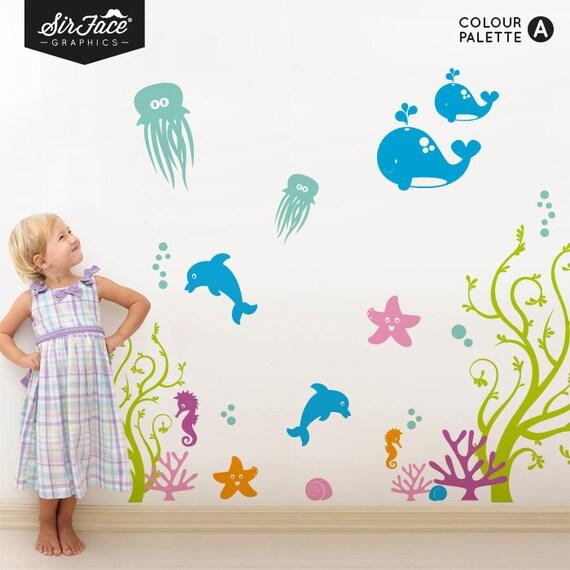 Items similar to Sea Life Wall Decal - Nursery Wall Decal ...