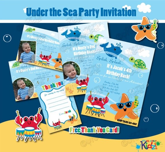 Boys Adorable Under The Sea Party Birthday By ItsAllAboutKidz