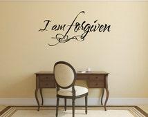 Christian Wall Decal. I'm Forgiven - CODE 134