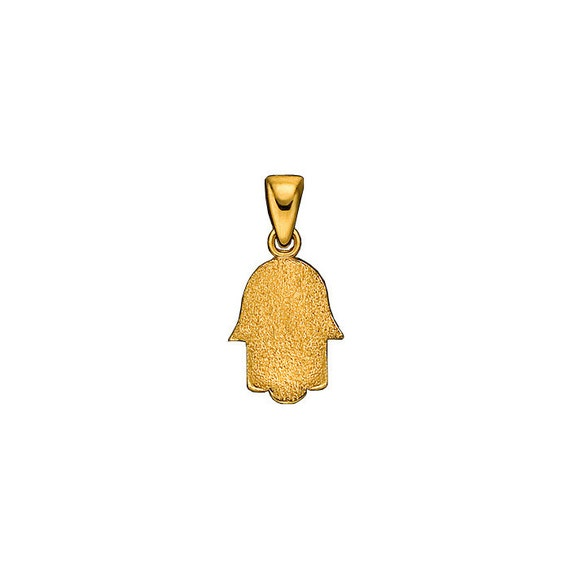 Textured Hamsa Pendant in 14k Yellow Gold