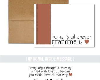Mother's Day - Home Is Wherever Grandma Is