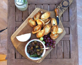 Wine Barrel Cheese board Serving Platter