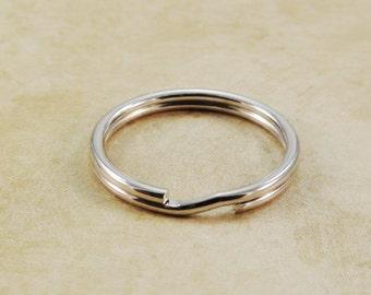 25mm Split Key Rings Silver Key Chains Qty 15