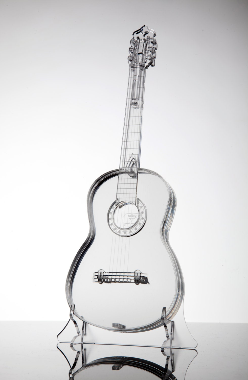Elec Instrument Glass : Acrylic glass model guitar unique gift for musician music