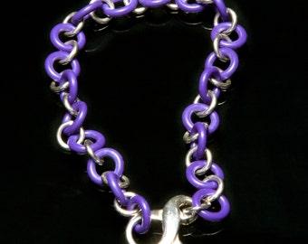 Purple & Sterling Silver Bracelet