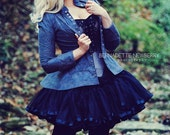 50s Style Petticoat- Wedding Extra Full - Gothic Lolita Steampunk Skirt Tricot & Ribbon Soft not scratchy - Custom to Order