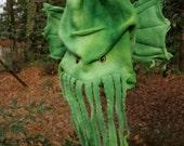 DICE BAG Cthulhu Bob- drawstring pouch/ wristlet purse tie dye green for DnD Warcraft Lovecraft Warhammer magic cards fans